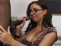 brunette mature gives head for ebony stud