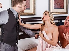 hubby looks how his wife fucks with lover