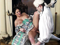 Emily B gets face drilled by Danny Ds throbbing pole